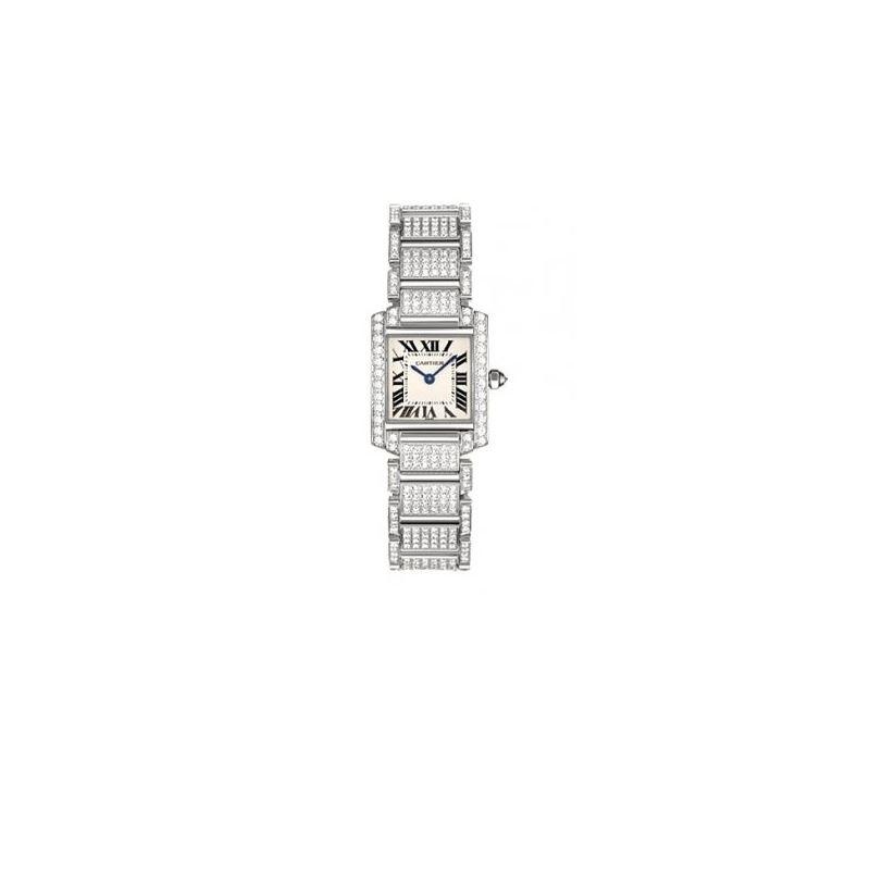 Cartier Tank Francaise 18kt White Gold Diamond Bra