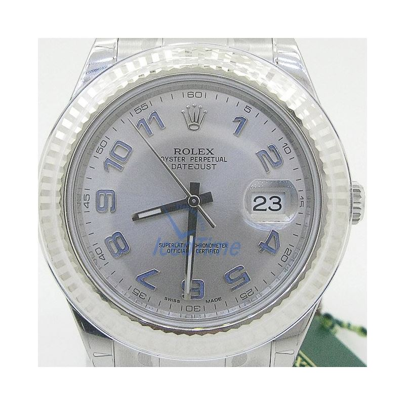 Rolex Datejust II Grey Dial White Gold Bezel Stain