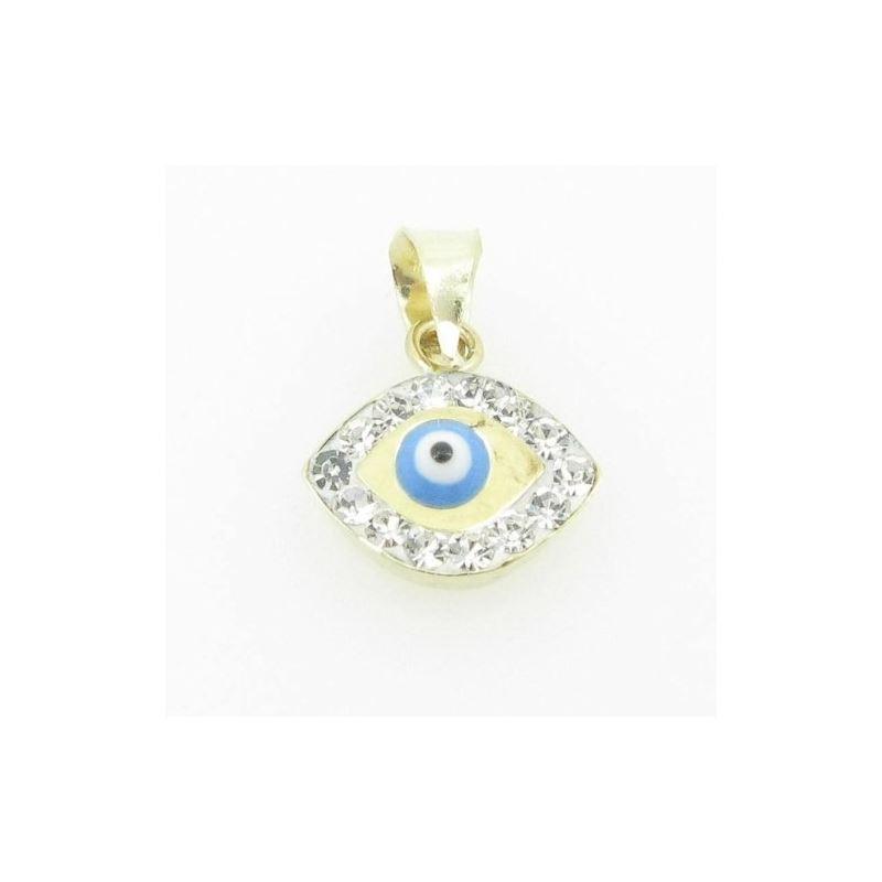 Womens bp112 kabbalah evil eye 14k solid yellow go