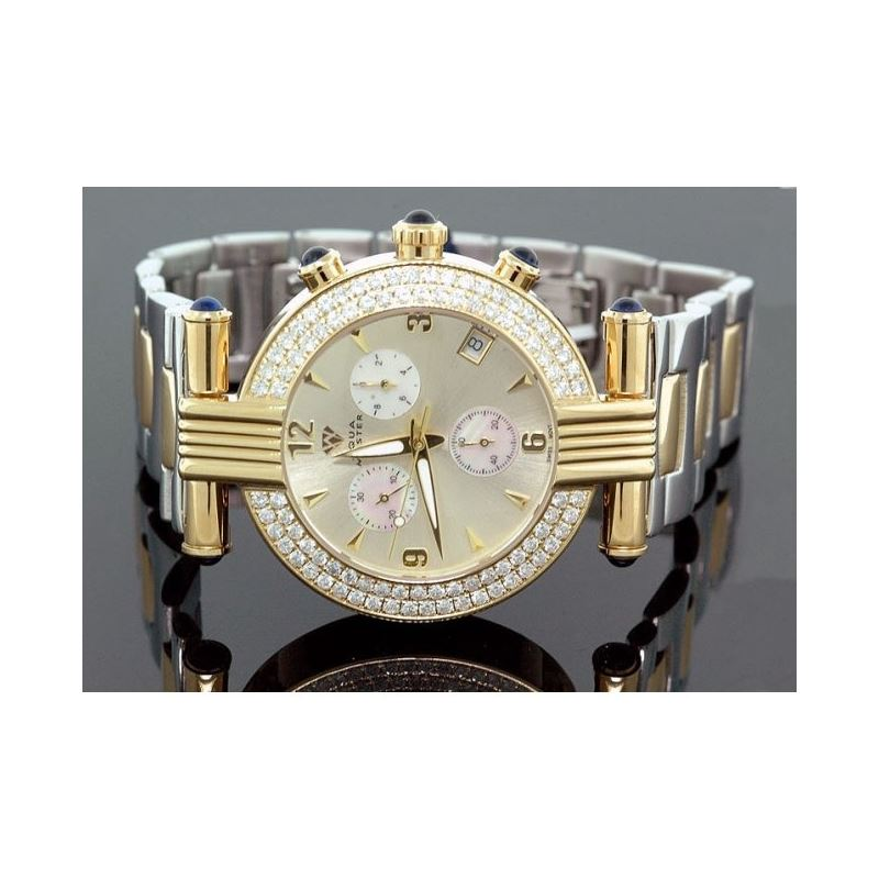 Ladies Aqua Master Diamond Watch 2.80 ct w-94c