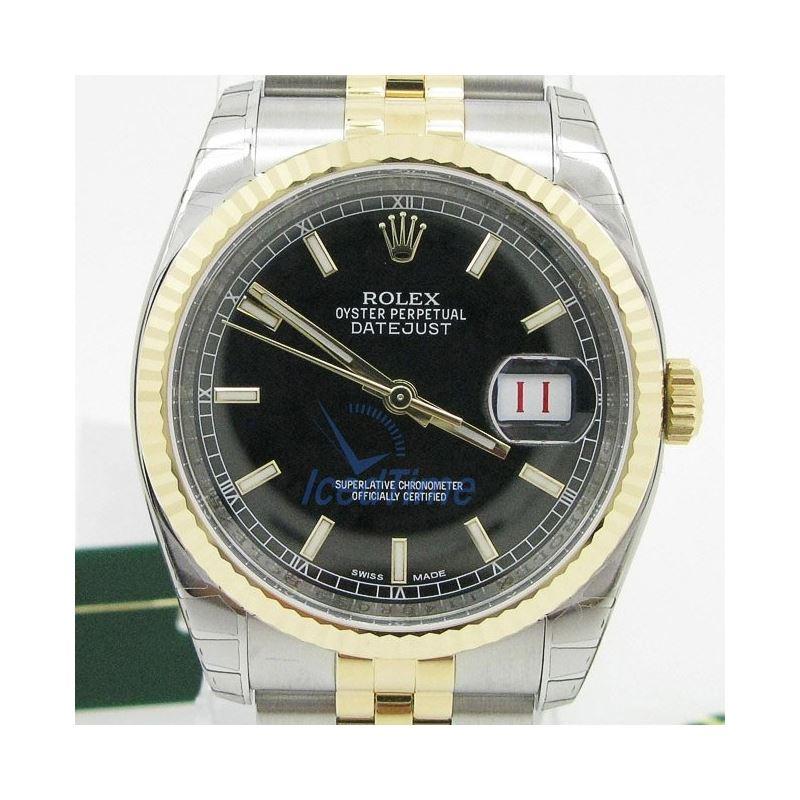 Rolex Datejust Black Index Dial Jubilee  53863 1