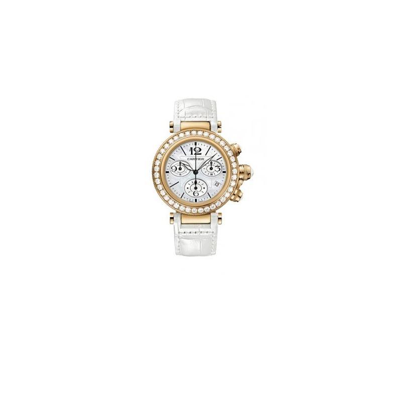 Cartier Pasha Seatimer Diamond Womens Watch WJ1300
