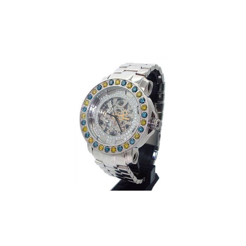 Freeze Automatic Watch - 7ctw Diamond Bezel