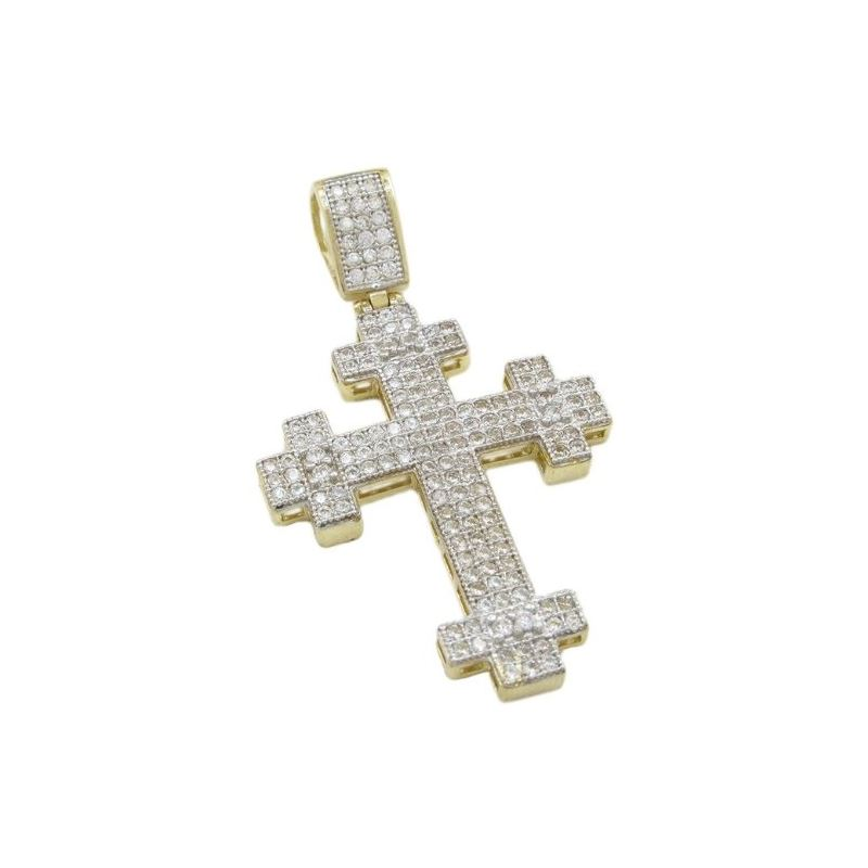Mens 10k Yellow gold Cross head gold cro 77295 1